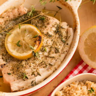 Baked Fish with Lemon and Thyme.