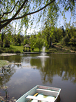 Photo: Yoga Farm, Grass Valley, CA - Pond and Fountain