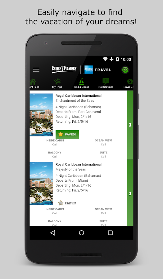 Cruise Planners Mobile- screenshot