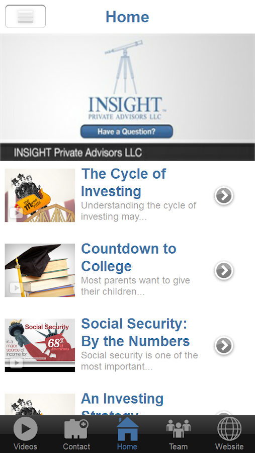 Insight Private Advisors LLC.- screenshot