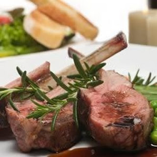 Lamb Chops with Balsamic Reduction.
