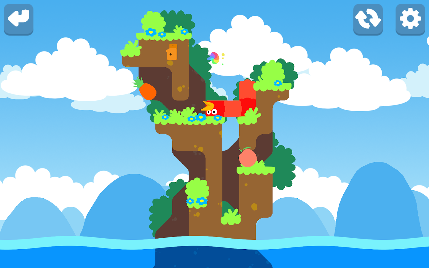Snakebird- screenshot