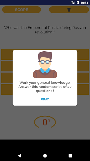 General Knowledge quiz  - screenshot