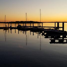 Sunset by Susanne Carlton - Transportation Boats (  )