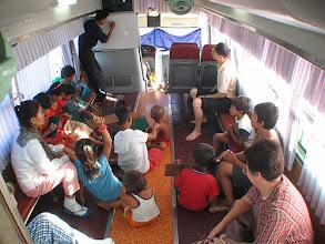 Photo: Green bus school room