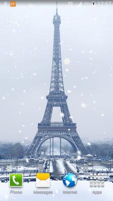 Snow in Paris Live Wallpaper - screenshot