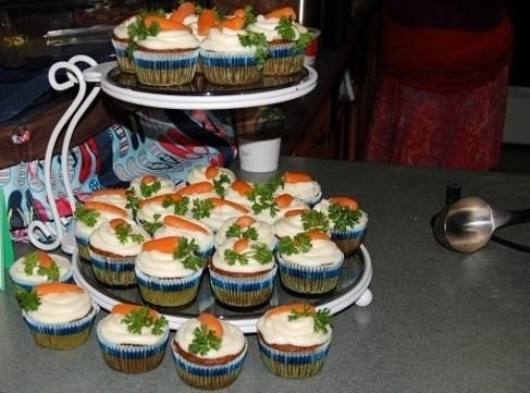 DeLena made the carrot cupcakes from scratch, using a friend's mother's recipe. The tops...