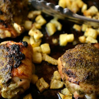 Rum and Chili Roasted Chicken Thighs With Pineapple
