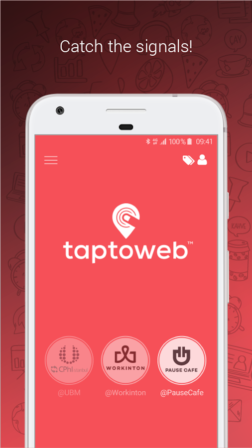 Taptoweb- screenshot