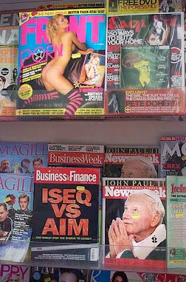 pope and sexy magazine