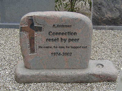 connection reset by peer grave stone geek
