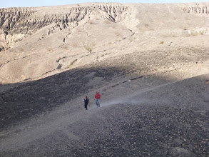 Photo: Descent into Ubehebe Crater.