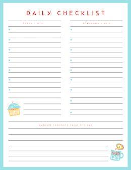 Daily Checklist Treats - Planner item