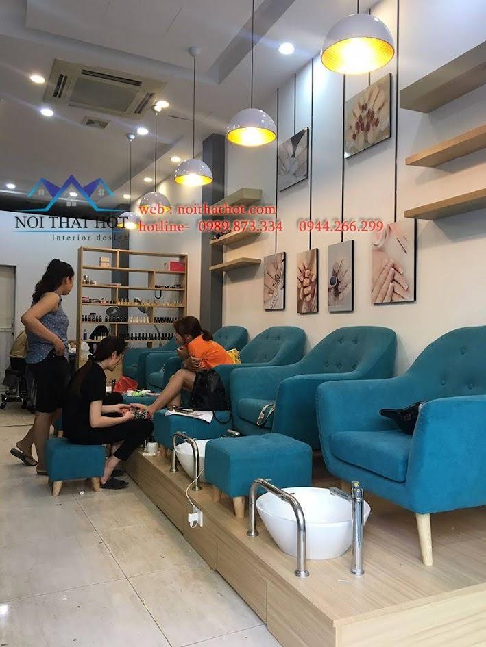 thiết kế thi công cửa hàng nail 1