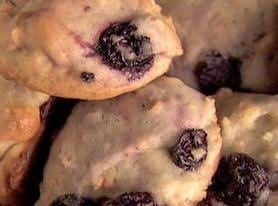 Lemon Thyme Blueberry Muffin Cookies