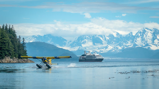Ponant-Alaska-bay.jpg - Share the bays of Alaska with a variety of watercraft. Le Boreal offers expedition cruises to Nome, Savoonga, St. George, Katmai and other scenic locations.