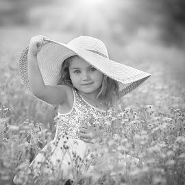 Little Miss Daisy by Pierre Vee - Black & White Portraits & People
