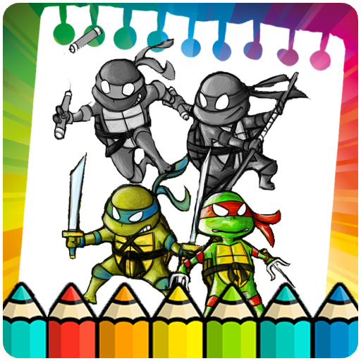 Coloring turtle the ninja legendes (game)