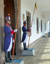Photo: The presidential guard.  They changed personnel half an hour later