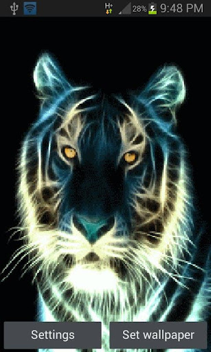 Abstract Tiger Live Wallpaper