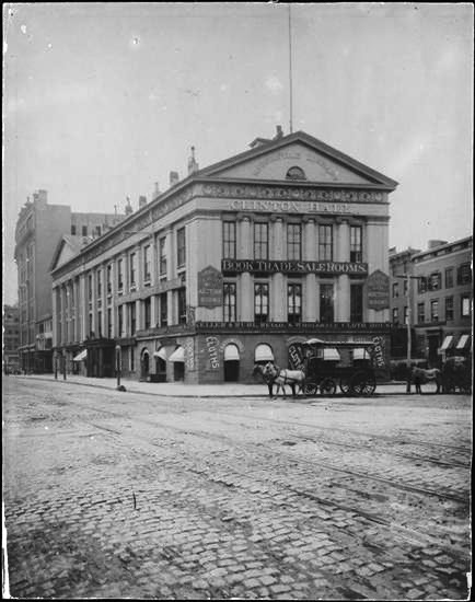 Clinton Hall as it appeared in 1875. Photo: Museum of the City of New York.