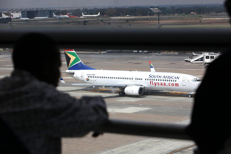 An SAA Aircraft on the runway at the OR Tambo International Airport. File photo.