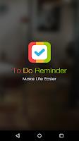 Screenshot of To Do Reminder