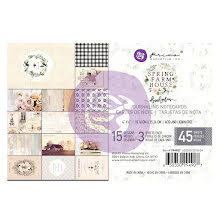 Prima Marketing Journaling Cards Pad 4X6 45/Pkg - Spring Farmhouse UTGÅENDE