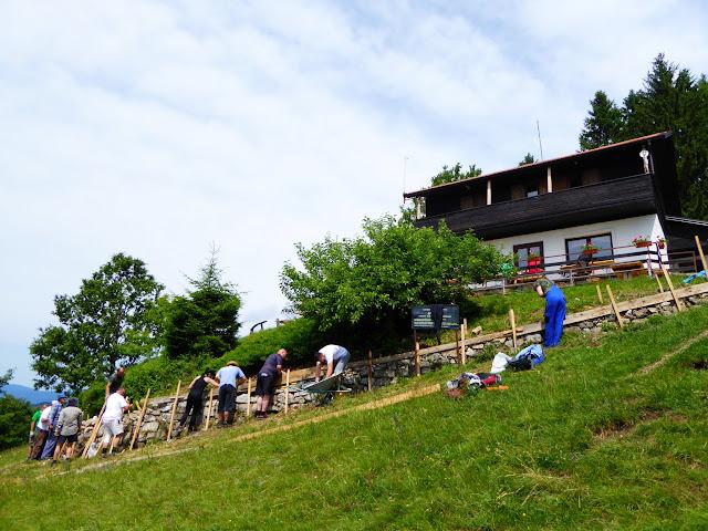 Sanacija podzida terase pl. doma Žitnica
