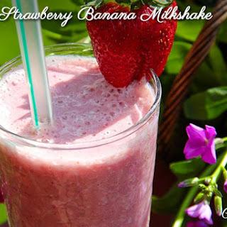 Strawberry Banana Power Milk Shake.