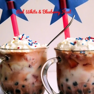 Red White & Blueberry July 4th Ice Cream Float