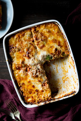 Classic Beef Lasagne with Spinach Pasta