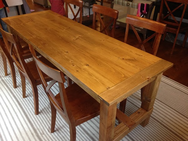 DIY dining room farmhouse table desk console table