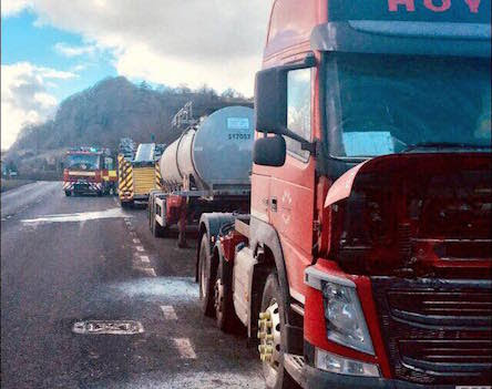 Driver averts chemical tanker inferno