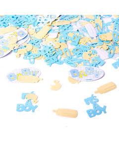 Konfetti, babyshower, blå/gul 15g
