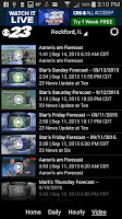 Screenshot of WIFR Weather