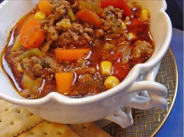 Hearty Hamburger Soup Recipe