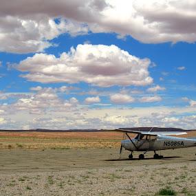 Lonley Cessna by Jacob Uriel - Transportation Airplanes ( sky, america, freedom, west, cessna )