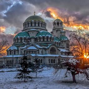 Fire in the sky by Estislav Ploshtakov - Buildings & Architecture Public & Historical (  )