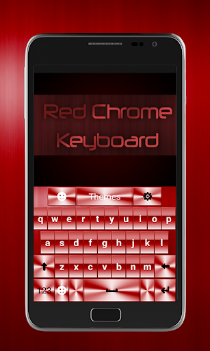 Red Chrome Keyboard