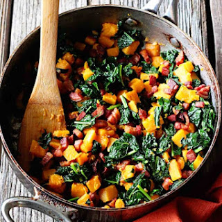 Butternut Squash Kale and Pancetta Hash Recipe
