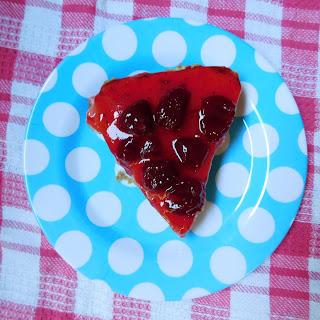 Chocolate Bottom Strawberry Cheesecake