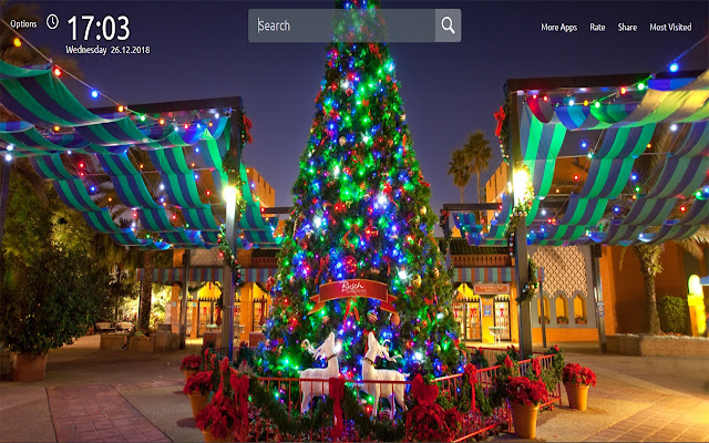 Christmas Tree Wallpapers Theme New Tab