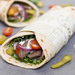 Lebanese Beef Shawarma with Tarator Sauce