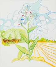 """Photo: Forget-Me-Not Drawing, pencil and acrylic on mylar, 36"""" x  30"""", 2012"""