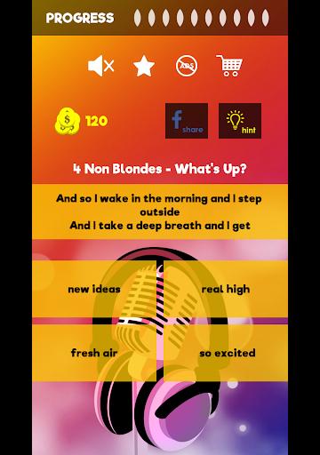 Finish The Lyrics - Free Music Quiz App 3.0.0 screenshots 8