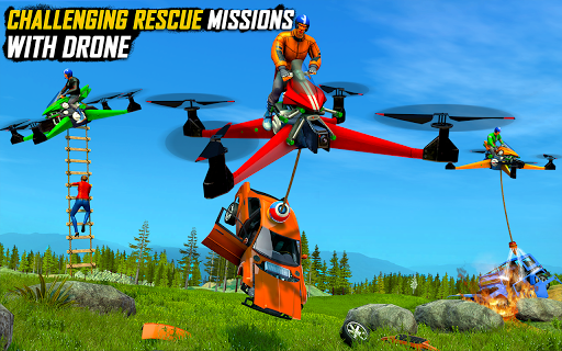 Drone Rescue Simulator: Flying Bike Transport Game android2mod screenshots 9