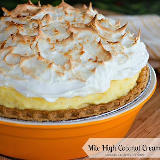 Mile High Coconut Cream Pie.