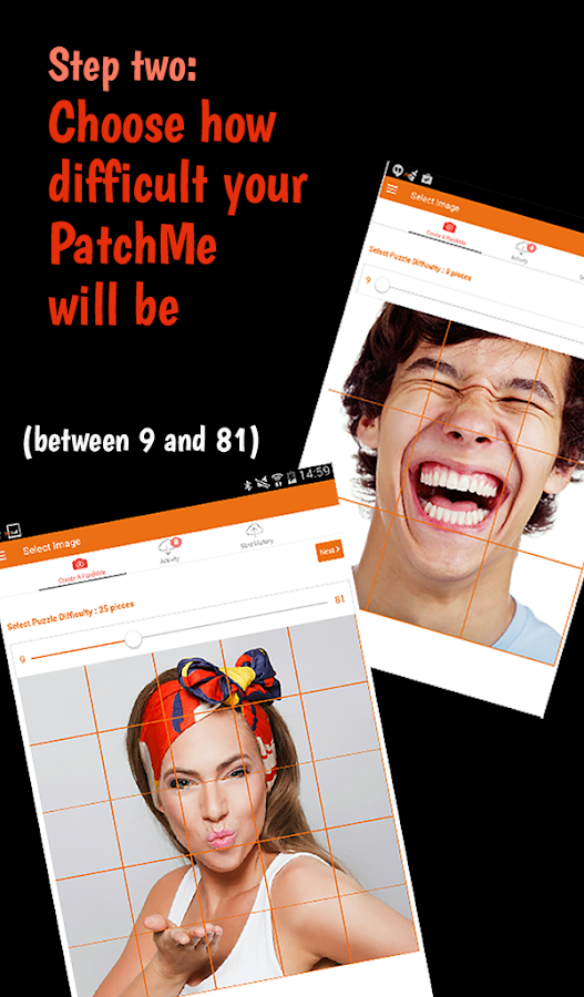 PatchMe - puzzle messaging app- screenshot