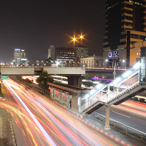 Jembatan Slipi Jaya by Arie Wibowo - City,  Street & Park  Night